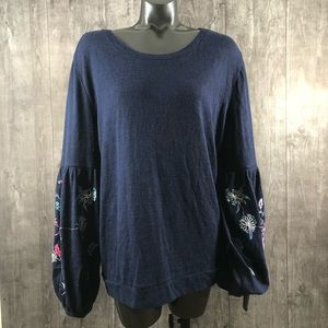 Time and Tru Plus Size 20 Bell Sleeve Knit Top